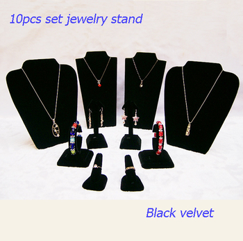 stand for jewelry earrings display stand for bracelets in black velvet for color jewelry in summer style necklace display chest