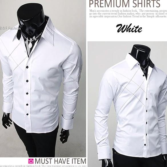 Popular Designer Men White Shirt-Buy Cheap Designer Men White ...
