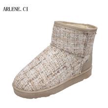 Mujeres Botas de Nieve 2016 de Espesor Invierno de la Felpa Caliente Zapatos de Moda Slip on Flat Tobillo de Las Mujeres Patea los zapatos de Algodón Acolchado Zapatos Mujer Botas Mujer(China (Mainland))