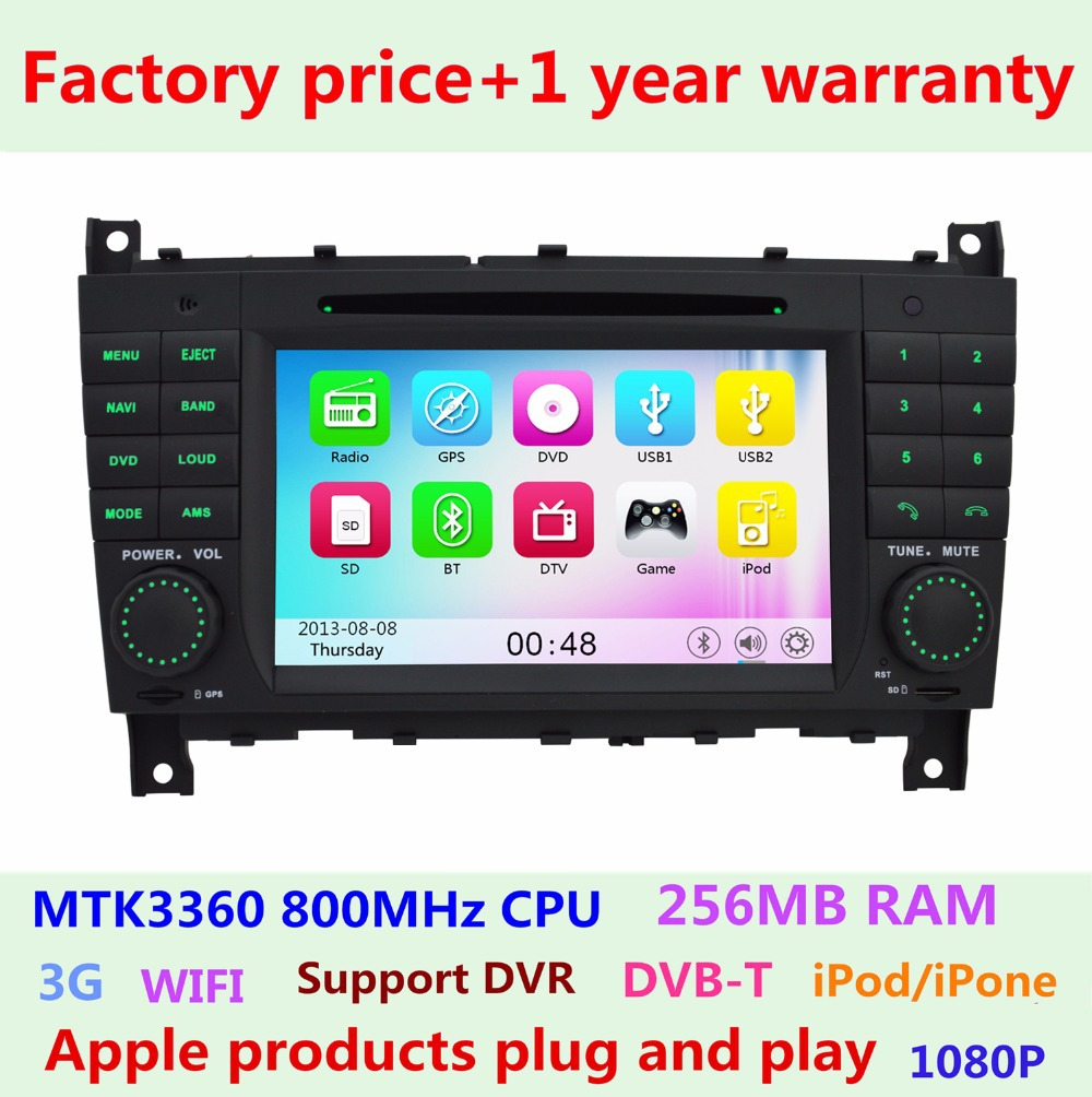 "Factory Price Car DVD 7"" Car DVD Player iPhone 3G BT Radio FOR Mercedes Benz C CLC CLK CLS Class W203 W209 W219 GPS Navigation(China (Mainland))"