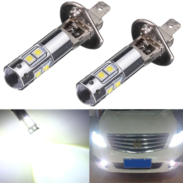 Best Promotion H1 50W CREE High Power 10 LED Cool White Car Auto Replacement Bulb Fog Lamp DRL Daytime Running Light DC12V(China (Mainland))