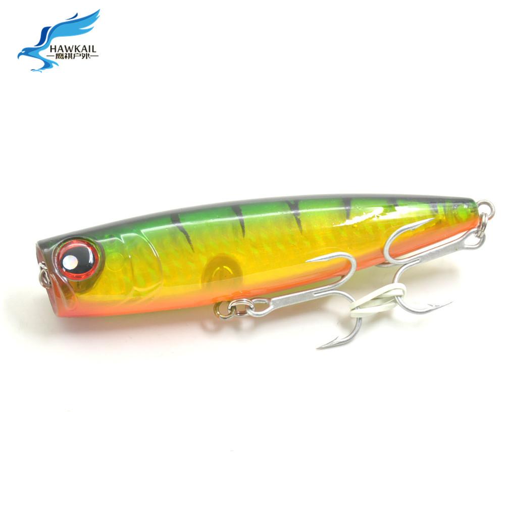 1pc popper fishing lures 24g plastic hard popper bait for Popper fishing lure