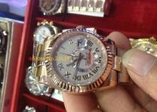 00 papeles que hombres relojes mecánicos 41 mm reloj Sapphire hombres de zafiro en oro rosa relojes 00320