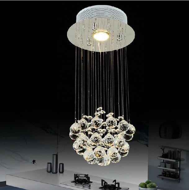 LED Free shipping wholesale modern luster crystal