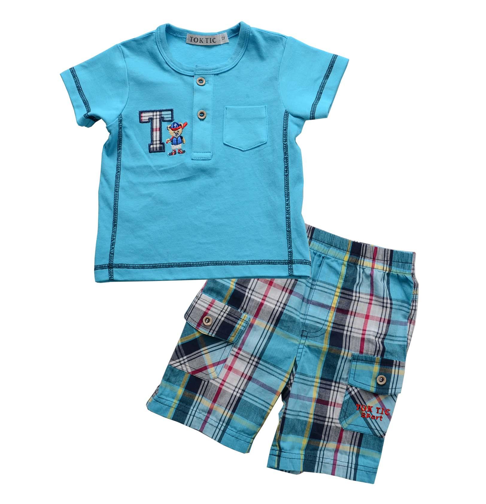 children Summer clothing set baby boy clothes kids cotton t shirt short pants boy clothes suit