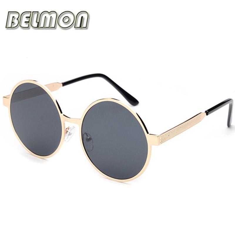 2016 Luxury Round Sunglasses Women Men Brand Designer Sun Glasses For Ladies Eyewear UV400 Mirror Lens Female Male Oculos RS073(China (Mainland))