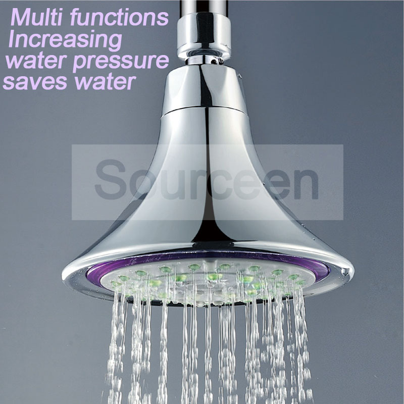 wall mounted water saving rain top shower head bathroom free shipping(China (Mainland))