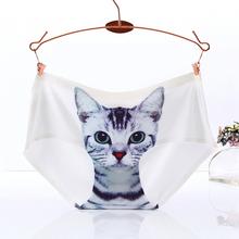 Maternity Intimates Seamless 3D underwear women briefs Cats Print women panties female underwear Panty Ladies Panties