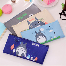 4Colors Super Kawaii NEW TOTORO 19*9CM School Pen Pencil BAG Case Pouch ; Cosmetics Purse BAG & Wallet Coin Holder Pouch W2.2