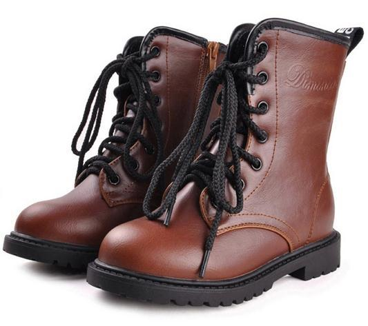 winter children snow boots fashion boys girls warm fur leather waterproof kids Martin shoes - Beauty Life Online Store:208399 store