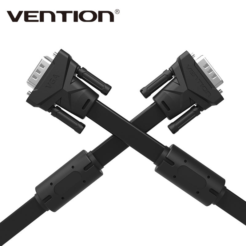 Vention VGA to VGA Flat Cable Male to Male 15 Pin Extension Monitor Cable High Premium HDTV VGA Cabo 1m/2m/3m/5m/8m(China (Mainland))