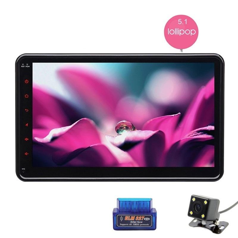 Universal Quad Core 10.1 Inch 2 Din Android 5.1 Lollipop Car Stereo Radio Audio GPS Navigation 1024*600 HD Resolution Head Unit(China (Mainland))