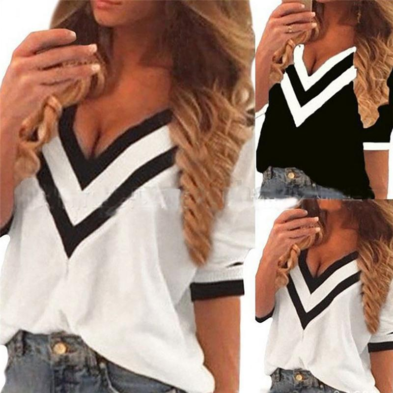 2016 New Summer Casual Loose Beach Sun Protection Style Chiffon Blouse Plus Size Bat Sleeve V-Neck Top