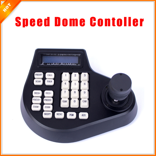 4 Axis Dimension Joystick CCTV Keyboard Controller For PTZ Speed Dome Camera(China (Mainland))