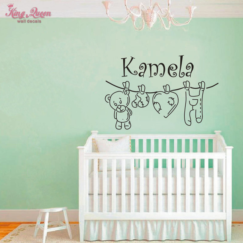 Personalized Bedroom Wall Decor : Aliexpress buy teddy bear and personalized name