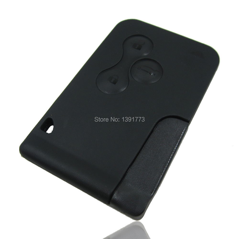 Replacement Renault Clio Megane Scenic Grand Scenic 3 Button Key Card Shell Case free shipping(China (Mainland))