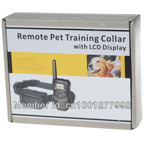998D New 300M Remote Control Electric Shock Pet Dog Training Collar No Bark Stop Battery Life Trainer Products Supplies(China (Mainland))