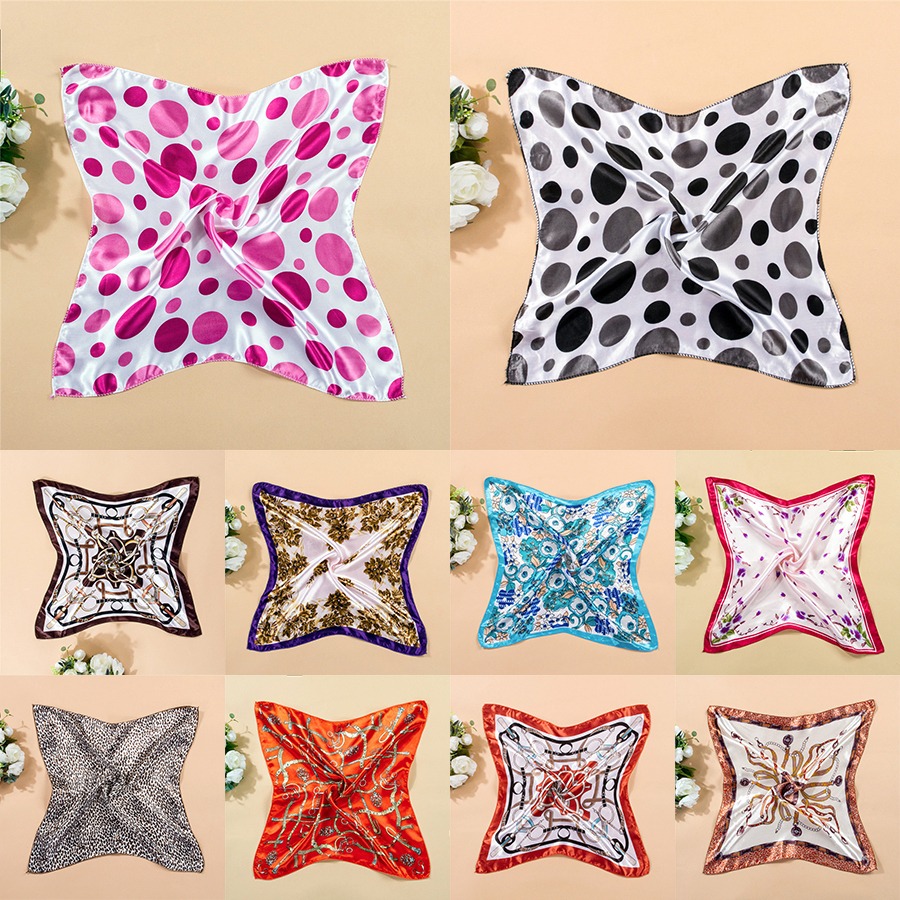 20 styles! Fashion Women 2015 Colorful Silk Scarf Printed Leopard Wild Scarves Casual Brand Small Square Scarf 50*50 Bandana(China (Mainland))