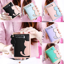 Buy Cartoon Cat Style Purse Fashion Cute Women's Wallet Bifold PU Leather Coin Purse Womens Bag Clutch Hand Bag for $4.06 in AliExpress store