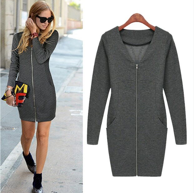 Uk 2014 New Designer Women Autumn And Winter Dress Plus