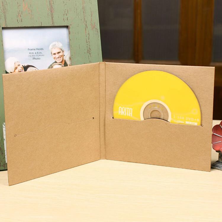 DHL 13.5*14.5cm Kraft Paper CD / DVD Sleeve Package Pack Bags Packaging Packing