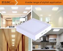 Surface Mounted 12w 18w 24w 32w square led panel light led ceiling AC 85-265v Freen shipping(China (Mainland))