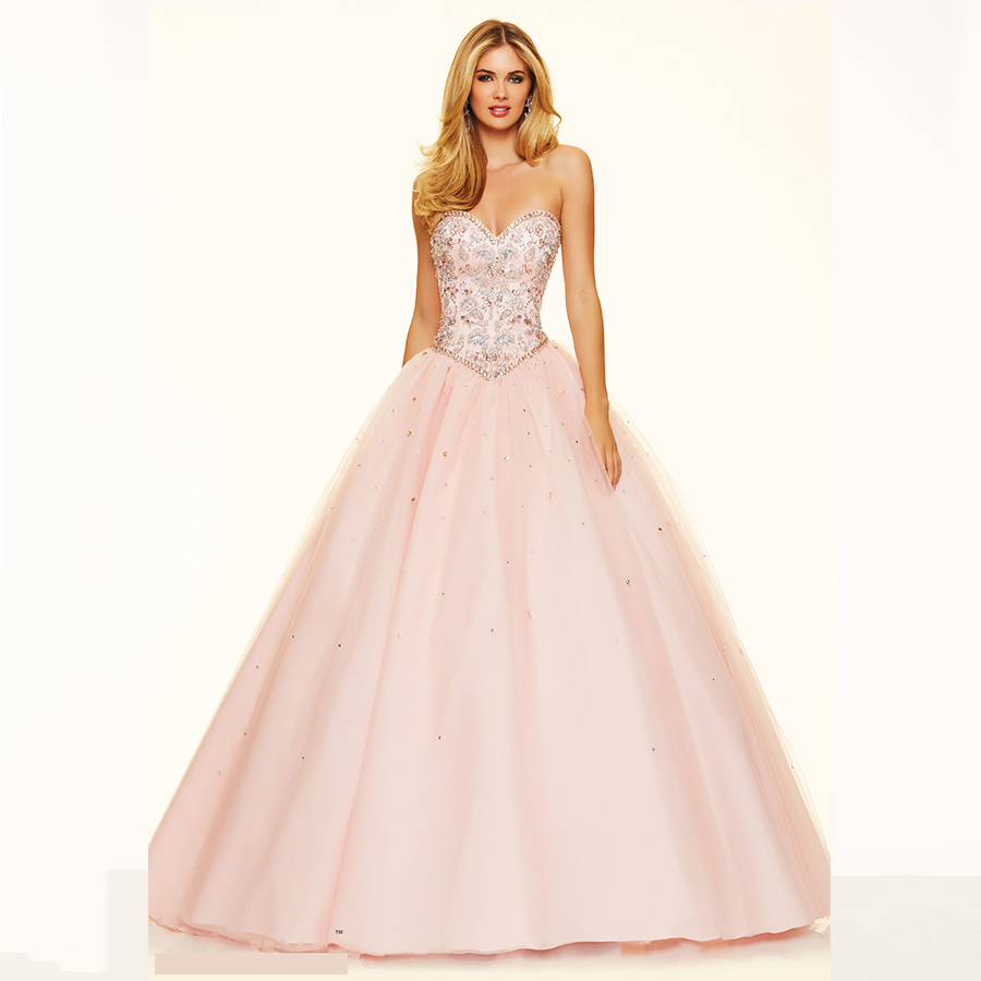 Puffy Pink Prom Dresses Plus Size Dresses
