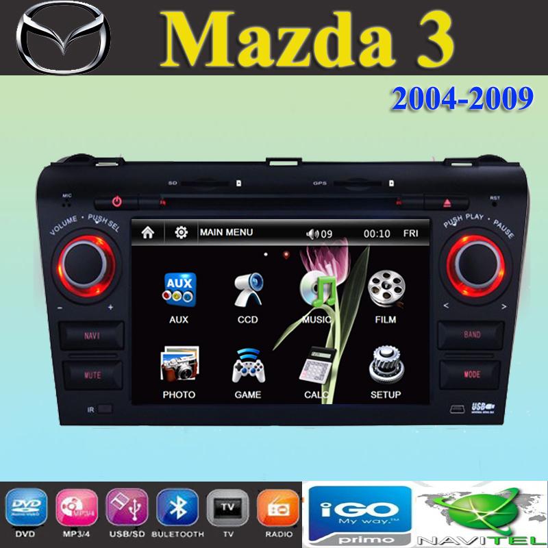7 car dvd player gps navigation for mazda 3 mazda3 axela 2004 2005 2006 2007 2008 2009. Black Bedroom Furniture Sets. Home Design Ideas