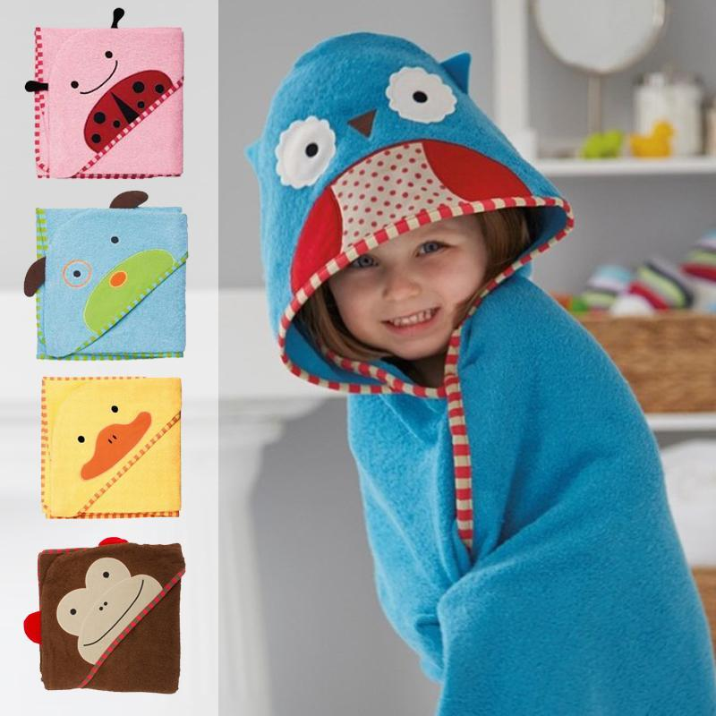 1 piece baby kids hooded bath towel cartoon baby bathrobe bath essential