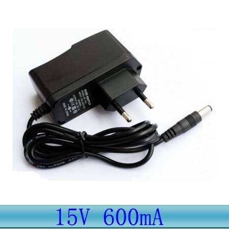 EU US Plug 15V ac/dc adapter 100V-240V AC to DC 15V power supply 15V 600mA power adapter Converter wall Changer 5.5mm*2.1mm(China (Mainland))