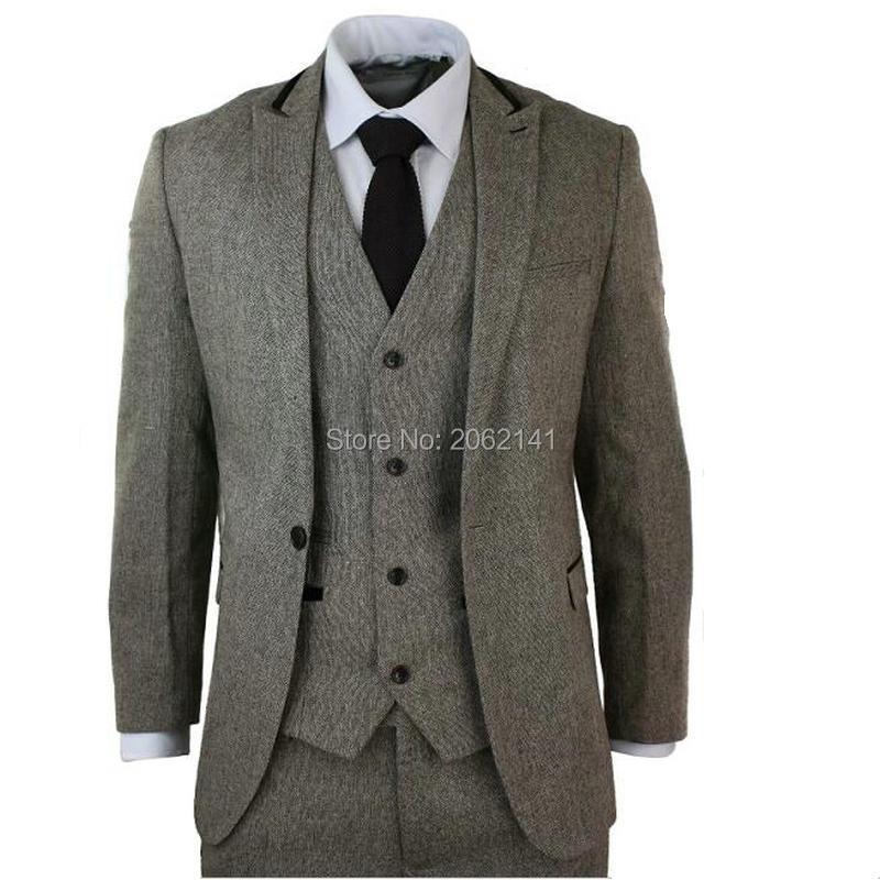 2016 sale vintage suits slim fit traditional tweed