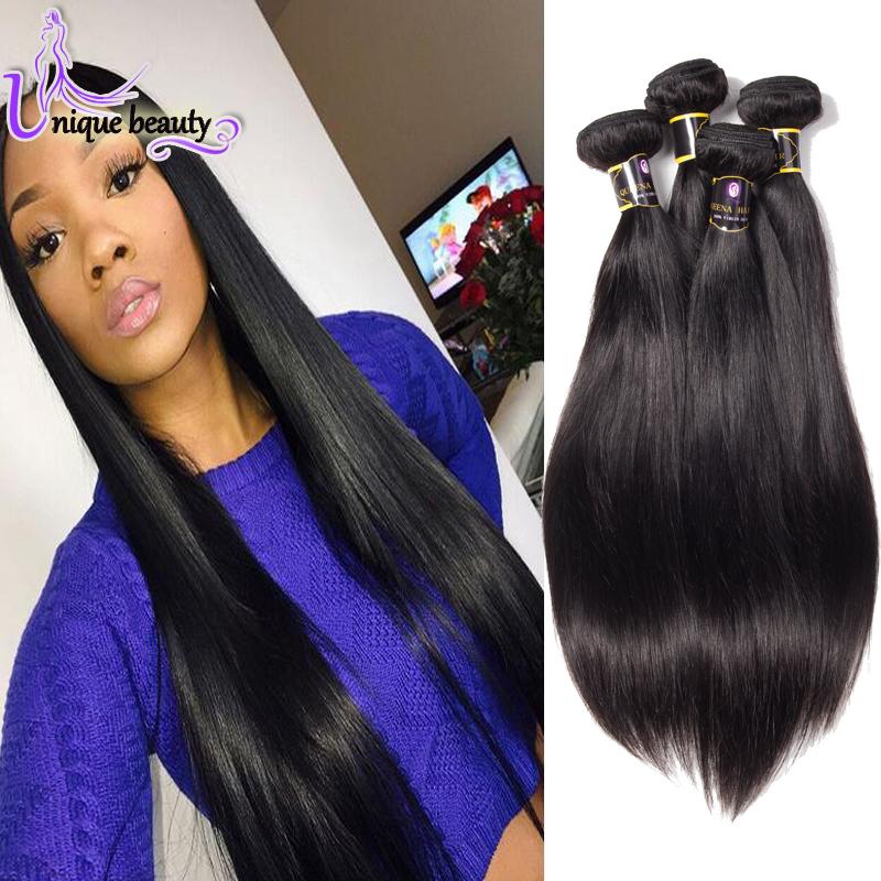 New Brazilian Virgin Hair 4 Bundles Straight Bella Dream Hair Straight 7A Brazillian Straight Hair Cheap Hair Bundles Specials<br><br>Aliexpress