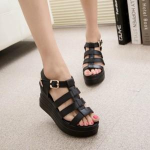 2015-Fashion-New-Brand-Women-Gladiator-Sandals-Soild-Buckle-Platform-Wedges-Sandalias-Summer-Ladies-High-Heels