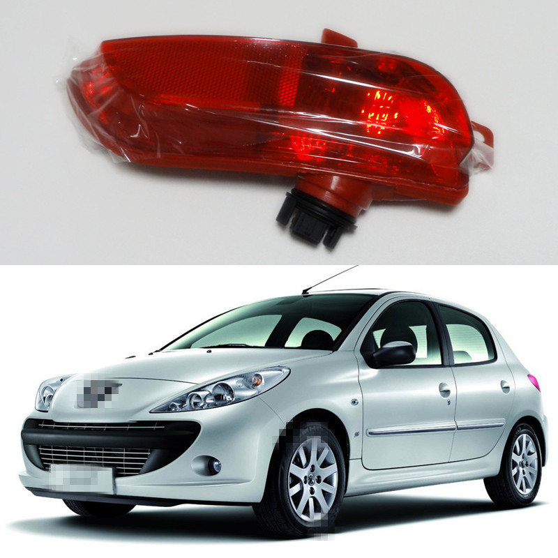1 Piece LH car back bumper fog lamp light for Peugeot 206+ plus 207(China (Mainland))