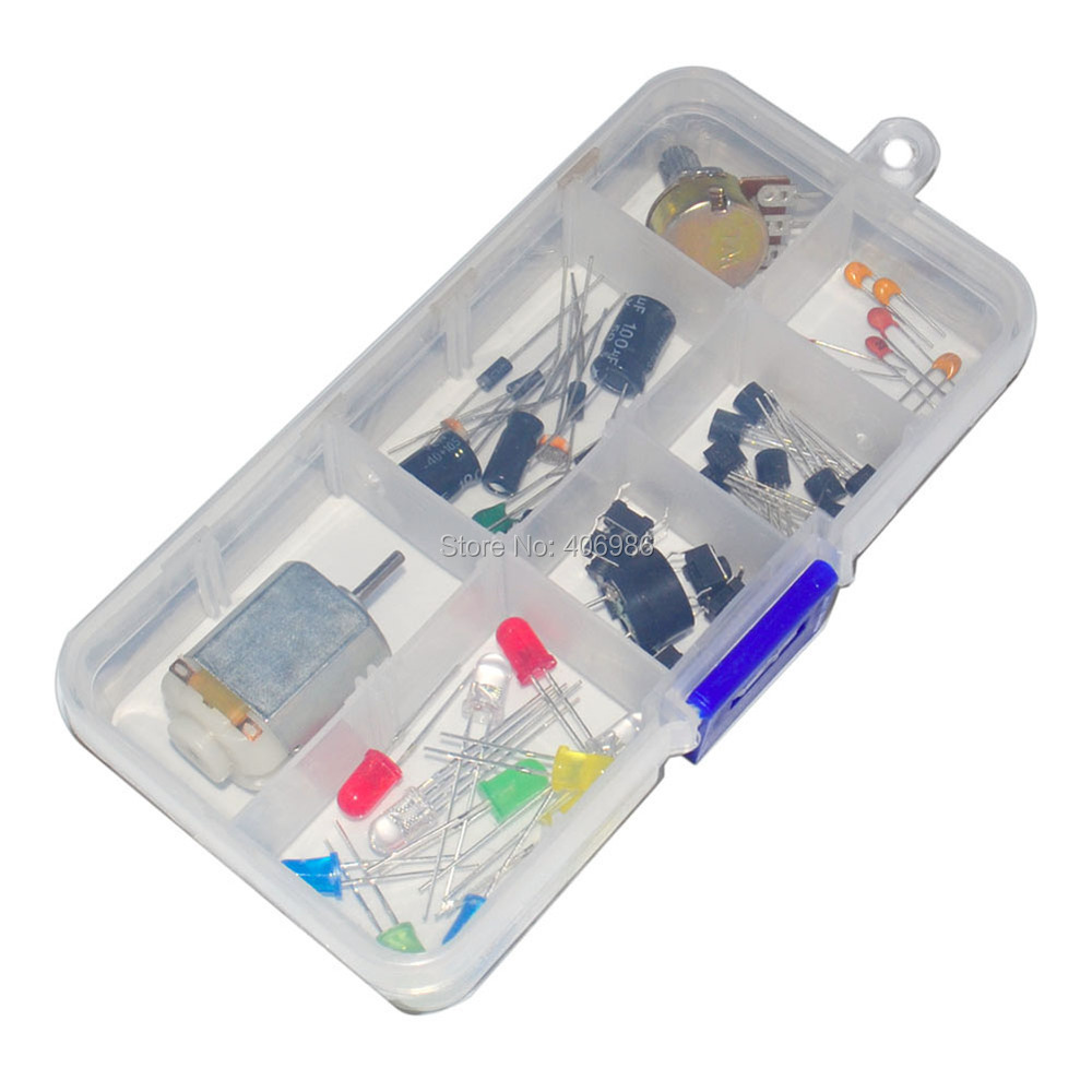 Electronic universal parts kit breadboard led cable