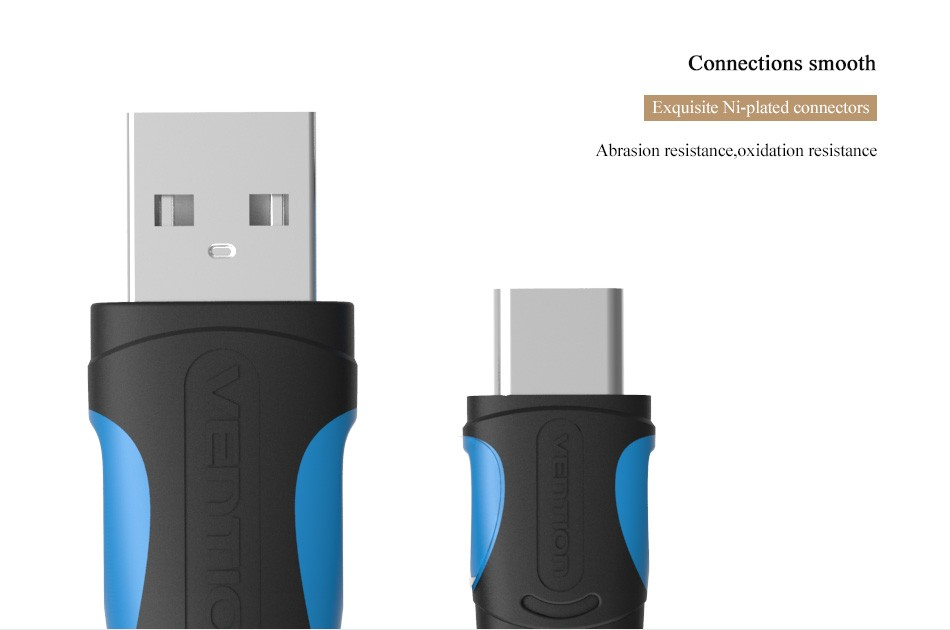 Vention USB 2.0 Type-C USB-C Cable USB Data Sync & Charge Cable For Nexus 5X Nexus 6P For OnePlus 2 ZUK Z1 Xiaomi 4C MX5 Pro
