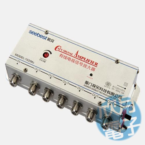 2017 new High quality 1 IN 6 OUT 6 WAY 20 db Cable TV signal amplifier low noise RF amplifier LNA for TV receiver(China (Mainland))