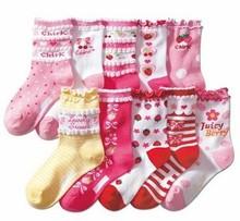 Group Shipment KID'S BASIC Cotton Stripped Cartoon Socks Children Socks for spring fall winter(China (Mainland))