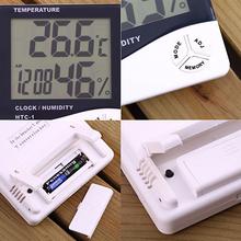Mini Digital LCD Temperature Humidity Meter Clock Indoor Hygrometer Thermometer 5A76