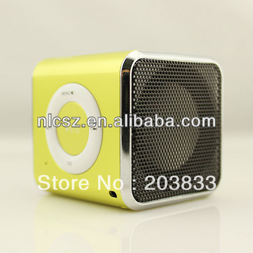 Free shipping + New Music Portable Mini USB Micro SD/TF Mp3 Player without screen,digital Speaker& computer speaker