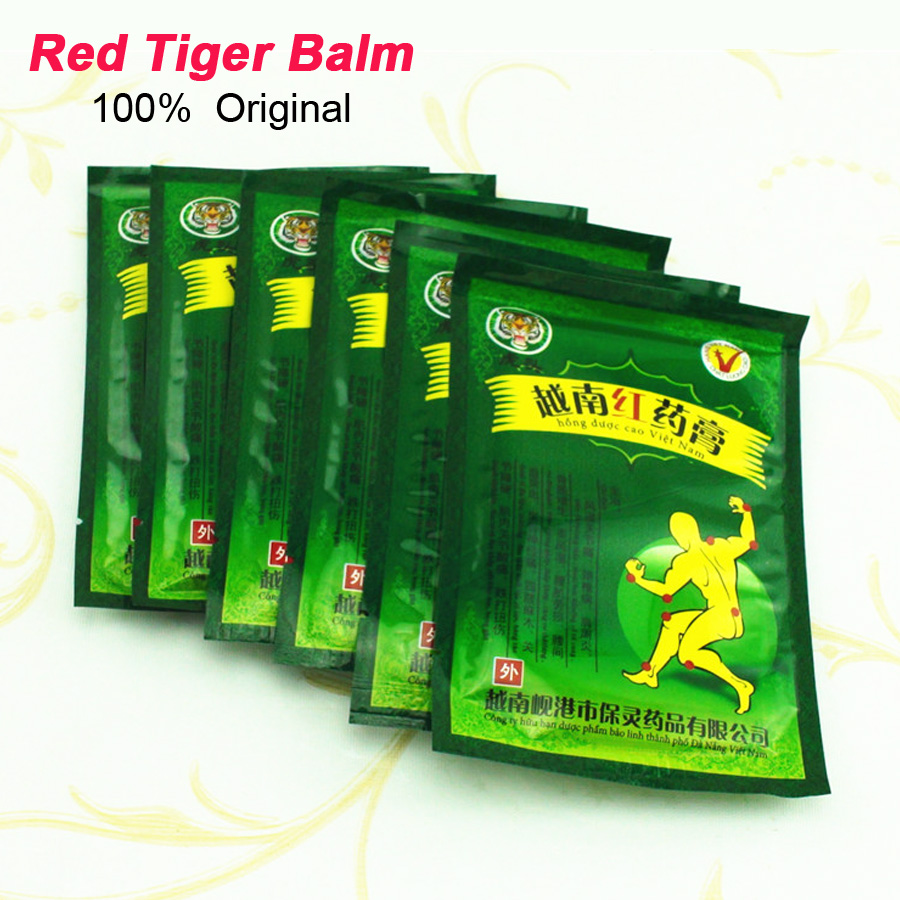 Гаджет  8pcs Vietnam Red Tiger Balm Plaster Muscular Pain Stiff Shoulders Neck Massage Pain Relieving Patch Relief Health Care C075 None Красота и здоровье