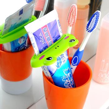 Nuevo cuarto de baño fijó creativo cepillo de dientes exprimidor ...