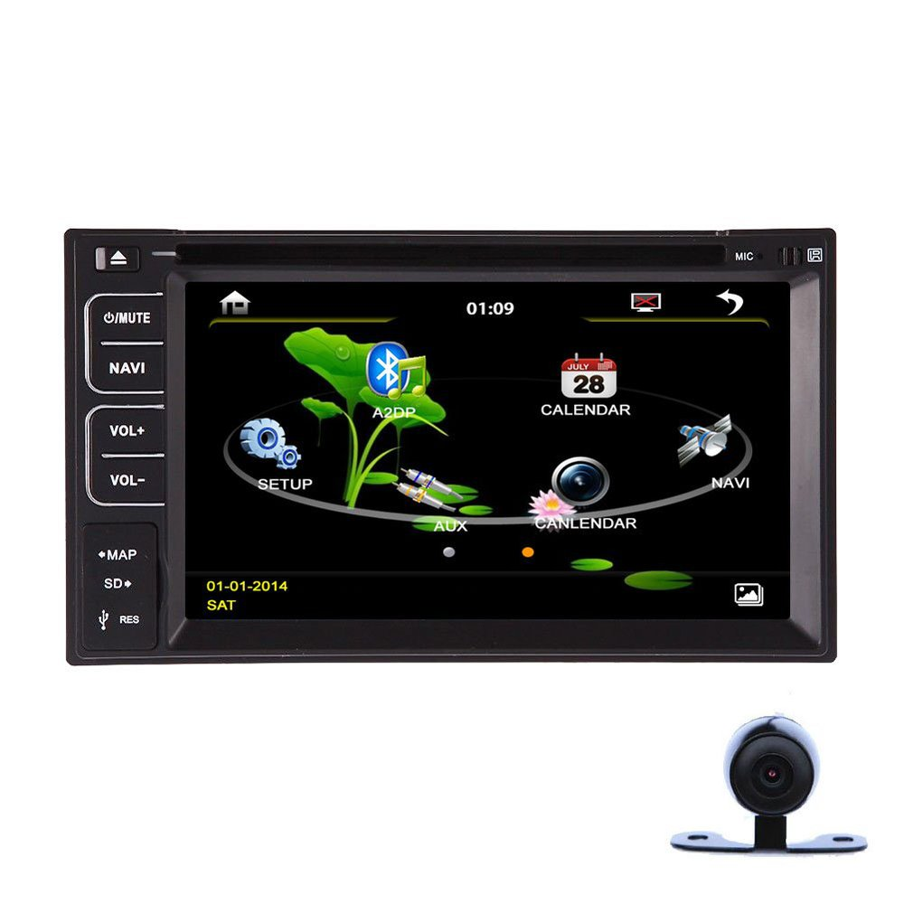 "Camera+Double 2 Din 6.2""Inch In Dash Auto Radio Car Stereo Car DVD Player Bluetooth SD Video Audio(China (Mainland))"