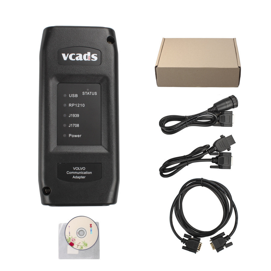 Free DHL! 2014 super Volvo VCADS Pro 2.40 Truck Diagnostic Tool best quality VOLVO