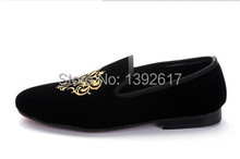 Free ship mens golden embroidery vintage pattern medieval tuxedo shoes/wedding/ stage performance shoes(China (Mainland))
