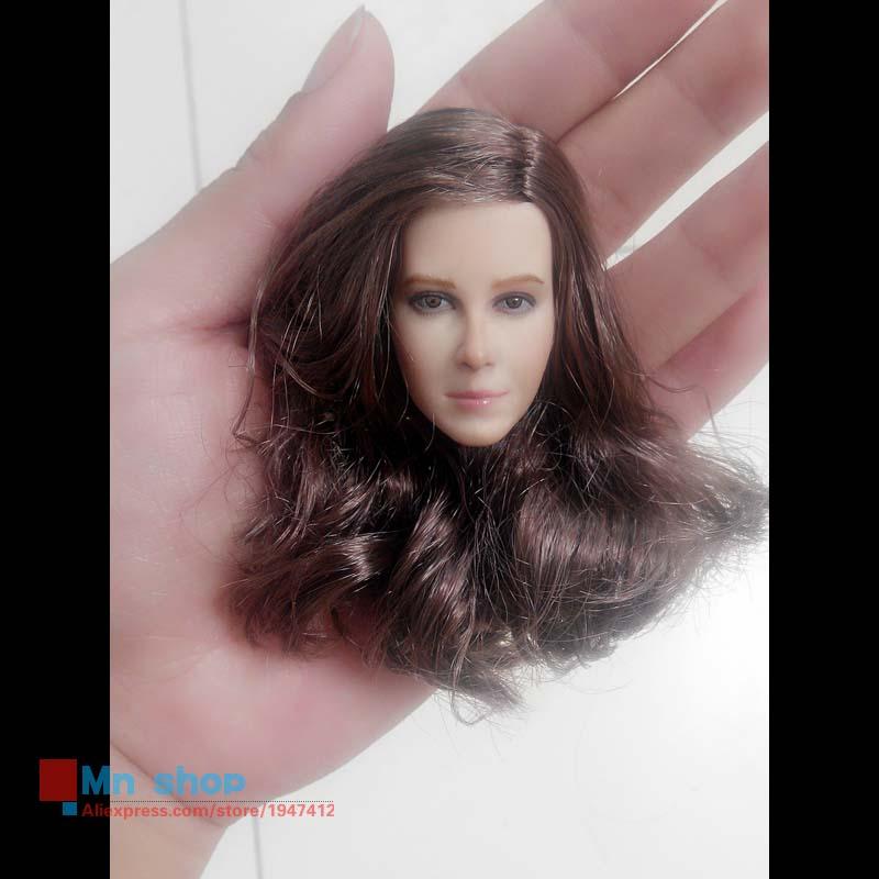 1 6 Headplay Figure Head Model Brown Long font b Hair b font Female Head Sculpt