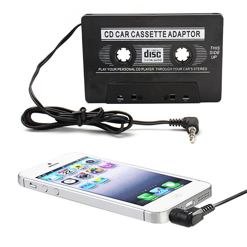 new Audio Car Cassette Tape Adapter Converter For mobile phone,tablet MP3 Aux CD Tape Player Accessories 3.5mm(China (Mainland))