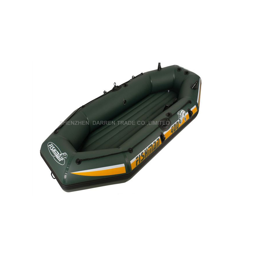 Free by DHL 4 person inflatable Boat Fishing Pvc Boats rwing boat drifting boat for drifting with Pump and oars(China (Mainland))