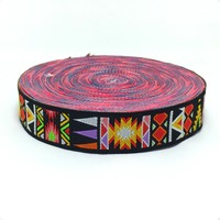 2016 NEW wholesale 3/4'' 20mm 10y/lot Wide geometric restoring ancient Woven Jacquard Ribbon dog chain accessories KTZD16032701