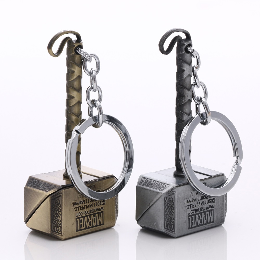 Movie Series The Avengers Key Chain Thor's hammer Keyring Keychain for Keys Chaveiro Llavero Key Ring Key Holder porte F-0066(China (Mainland))
